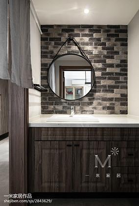 三居卫生间中式装修效果图三居中式现代家装装修案例效果图