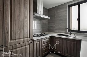 105m²新中式厨房设计图三居中式现代家装装修案例效果图