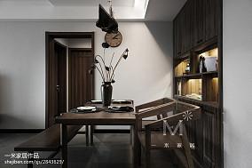 105平米三居餐厅中式装修效果图三居中式现代家装装修案例效果图