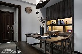 90平米三居餐厅中式装修效果图三居中式现代家装装修案例效果图
