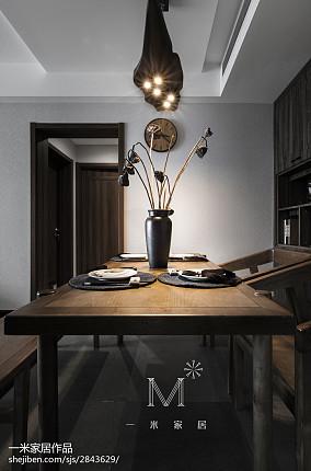 精选95平米三居餐厅中式装饰图片家装装修案例效果图