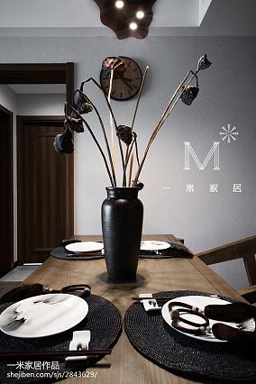 精选108平米三居餐厅中式装饰图片大全家装装修案例效果图