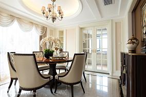 精美面积131平复式餐厅新古典欣赏图