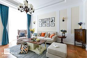 普通美式三居客厅设计图三居美式经典家装装修案例效果图