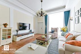质朴93平美式三居效果图片大全三居美式经典家装装修案例效果图