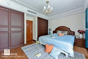复古美式三居卧室设计图三居美式经典家装装修案例效果图