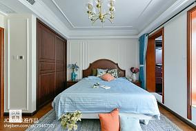 复古美式三居卧室设计图片三居美式经典家装装修案例效果图