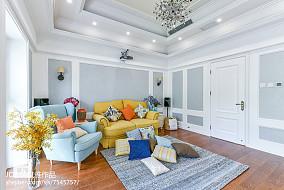 华丽94平美式三居装修美图三居美式经典家装装修案例效果图
