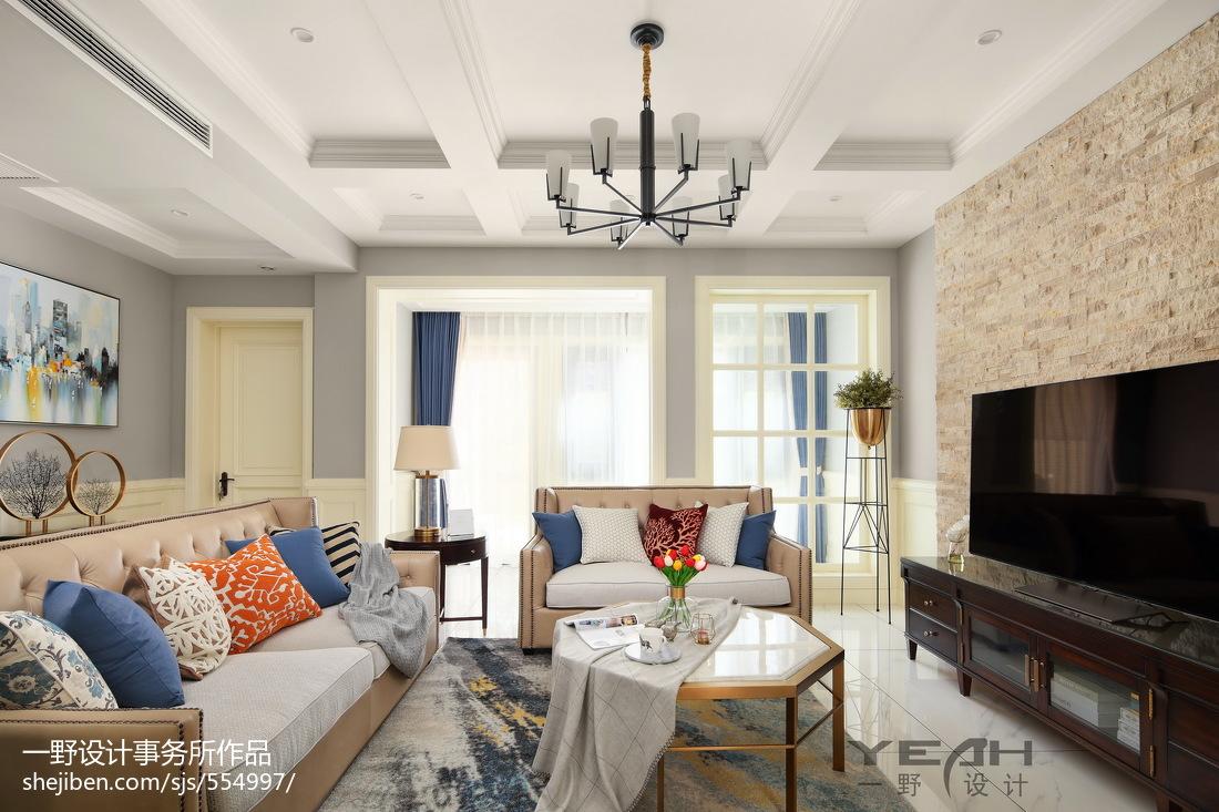 田园美式别墅客厅吊灯设计图