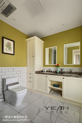 田园美式别墅卫浴设计图