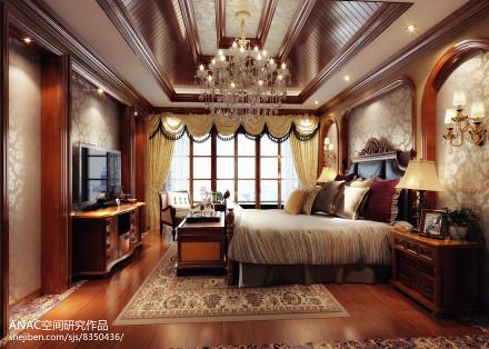 温馨877平美式别墅卧室美图卧室