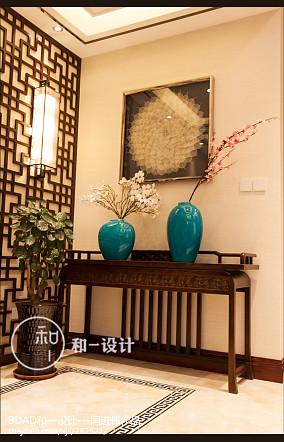 龙湖锦璘原著别墅玄关中式现代设计图片赏析
