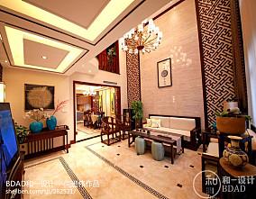龙湖锦璘原著别墅客厅1图中式现代设计图片赏析
