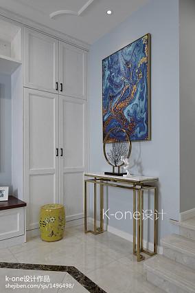 热门美式别墅玄关装修效果图片欣赏
