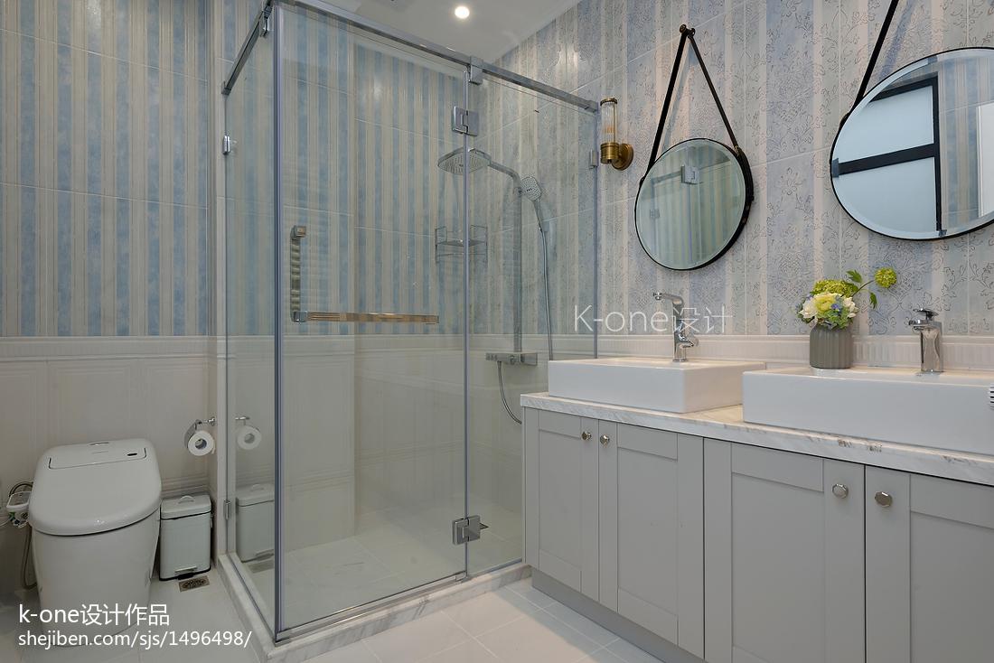 热门135平米美式别墅卫生间装修设计效果图