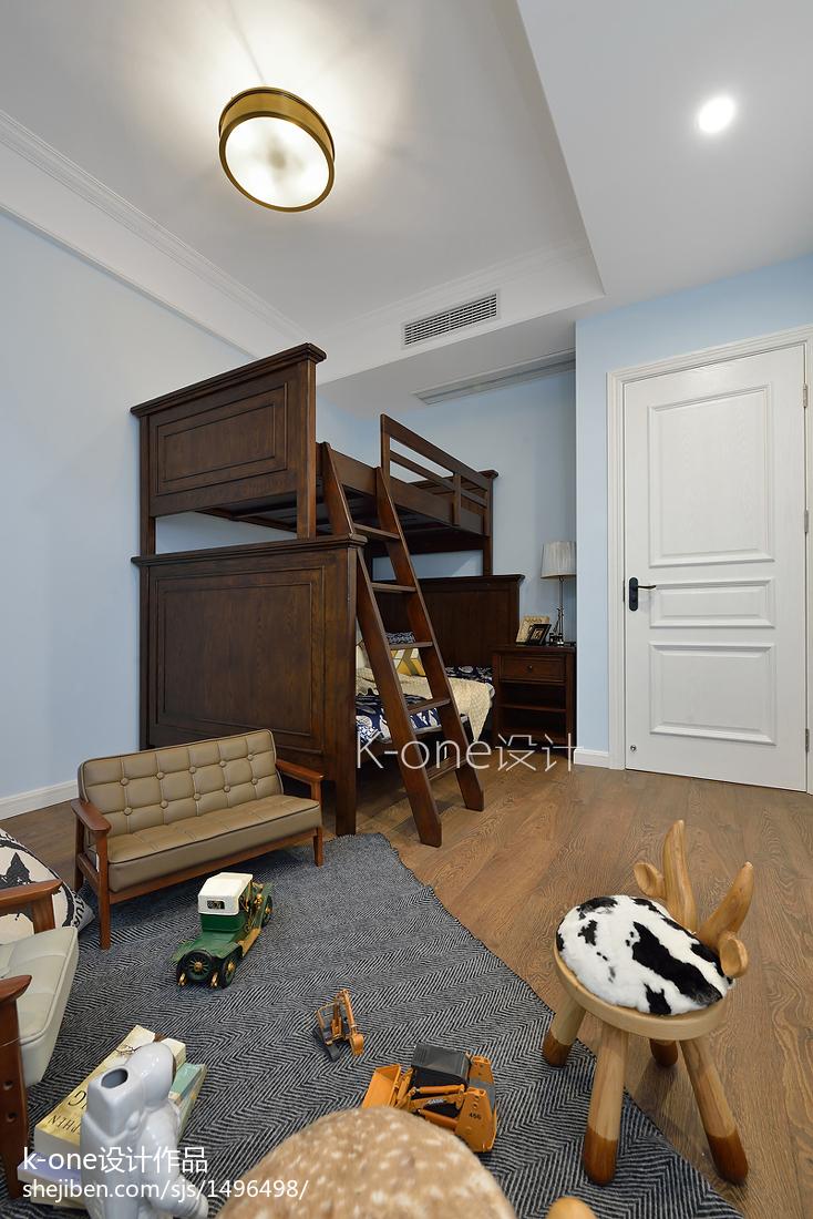2018精选141平米美式别墅儿童房装修实景图片大全