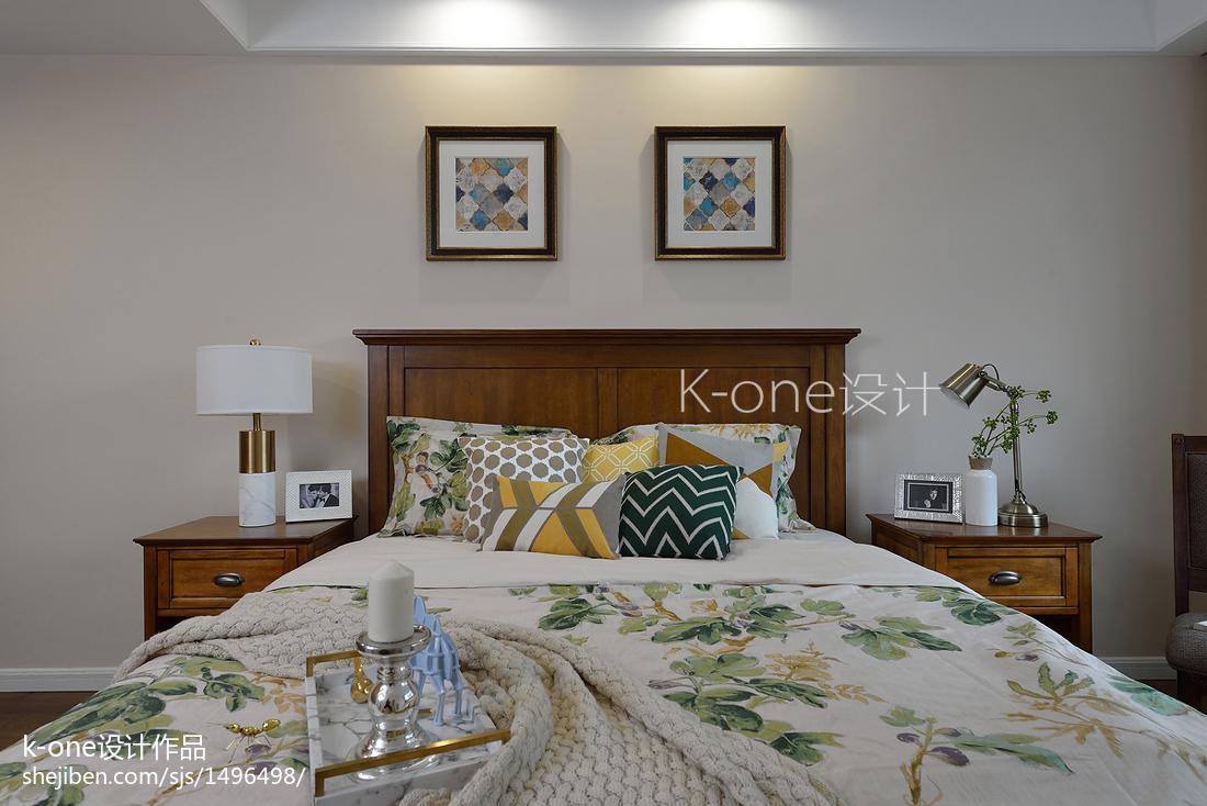 精美面积114平别墅卧室美式装修实景图片欣赏