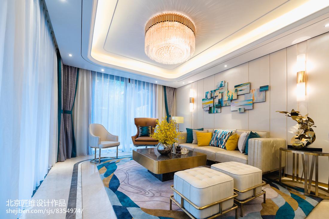 现代样板房客厅沙发设计图客厅现代简约客厅设计图片赏析