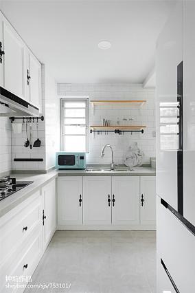 精选面积98平北欧三居厨房装修图