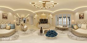 2018精选98平米三居客厅欧式装饰图片大全