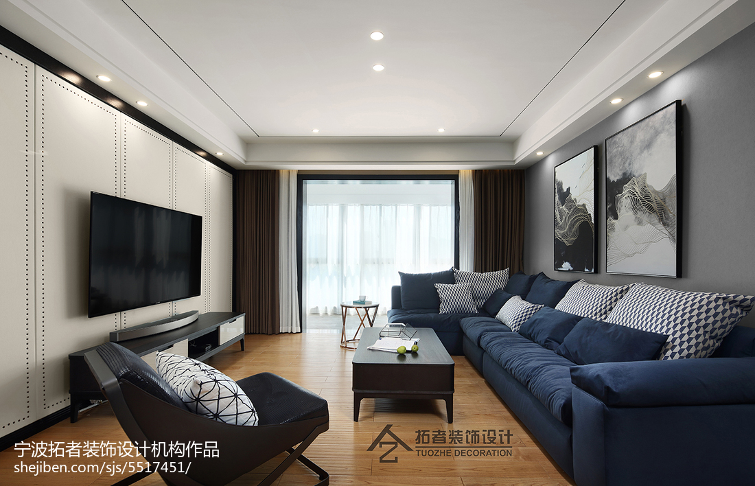 简单简约四居客厅设计图片客厅窗帘现代简约客厅设计图片赏析