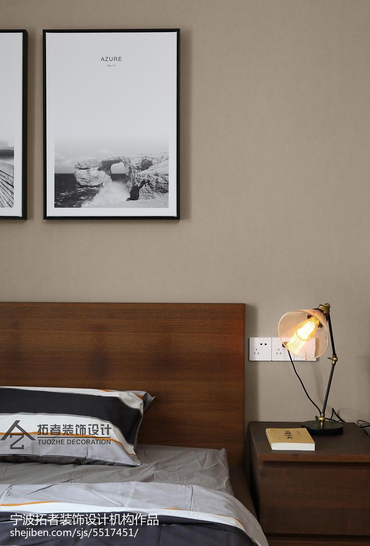 热门面积130平简约四居卧室装饰图片卧室床头柜现代简约卧室设计图片赏析