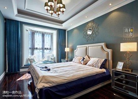田园美式四居卧室设计效果图卧室