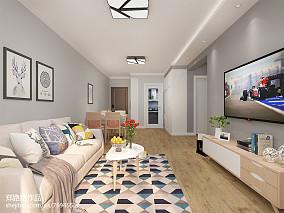 面积70平北欧二居客厅装修欣赏图片大全