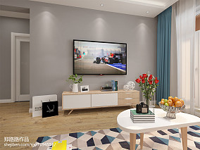 2018精选78平方二居客厅北欧装修欣赏图片