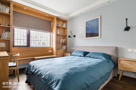 2018面积123平复式卧室北欧装修效果图片欣赏卧室