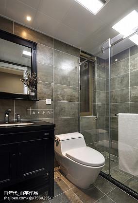 优美121平现代四居卫生间设计美图