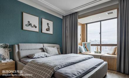 清新现代三居卧室设计图卧室