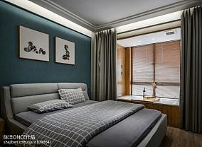 大小107平现代三居卧室实景图片