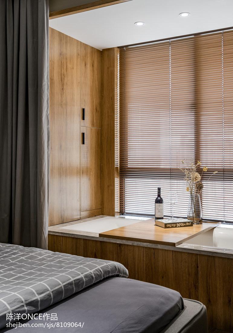 清新现代三居窗台设计图卧室现代简约卧室设计图片赏析