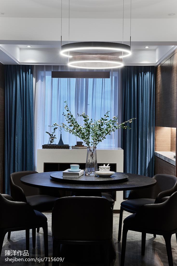 明亮现代四居餐厅吊灯设计图现代简约设计图片赏析