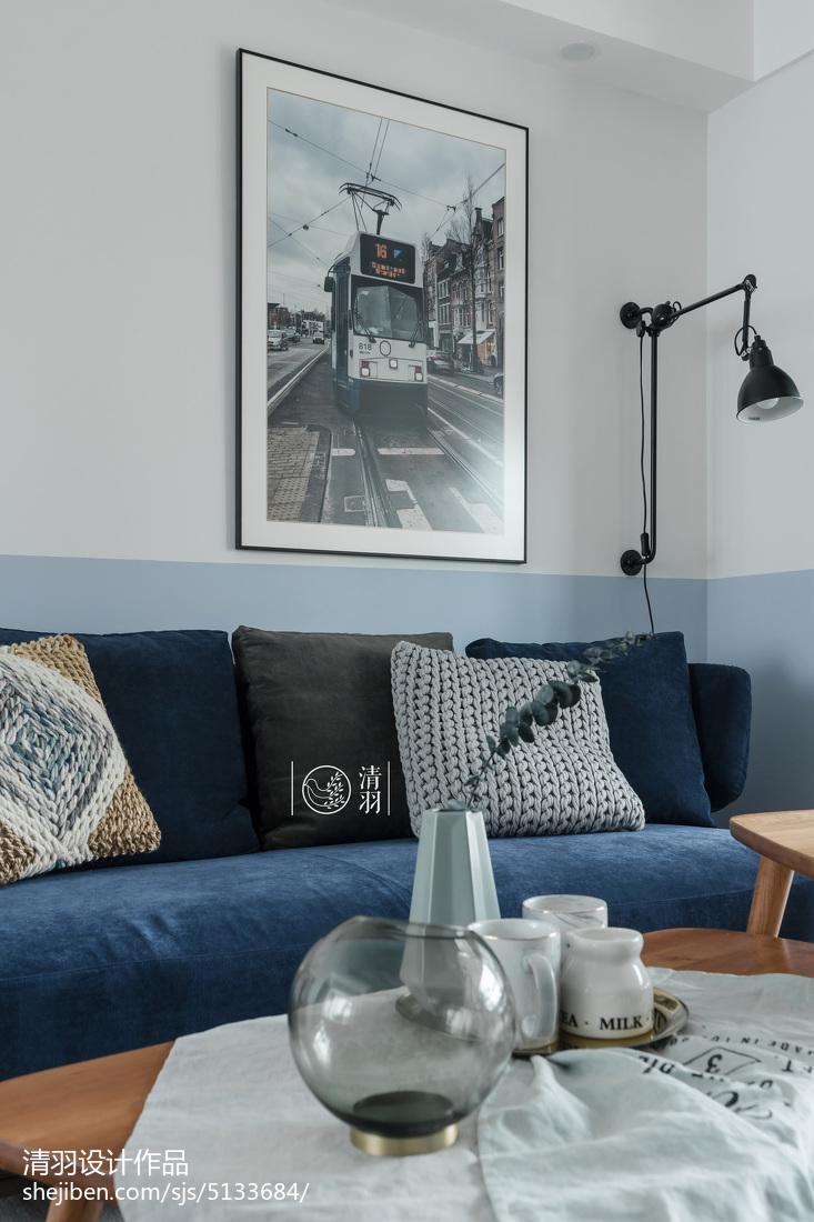 2018精选109平米三居客厅北欧装修欣赏图片大全客厅