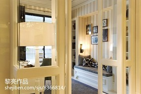 大气卧室壁橱格子图片