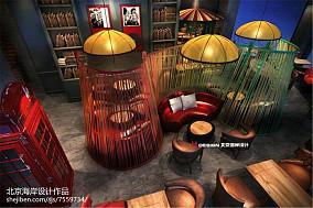 现代风格楼梯餐厅隔断效果图