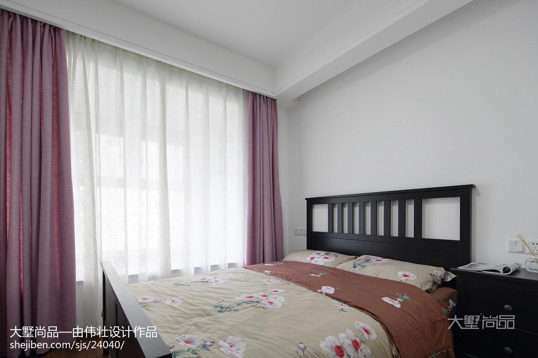 热门95平方三居卧室北欧装修欣赏图片卧室北欧极简卧室设计图片赏析
