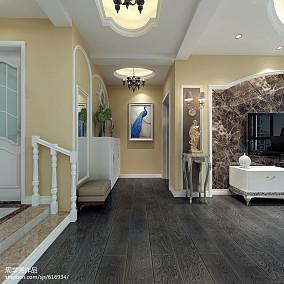 2018面积117平别墅玄关美式装修设计效果图片大全