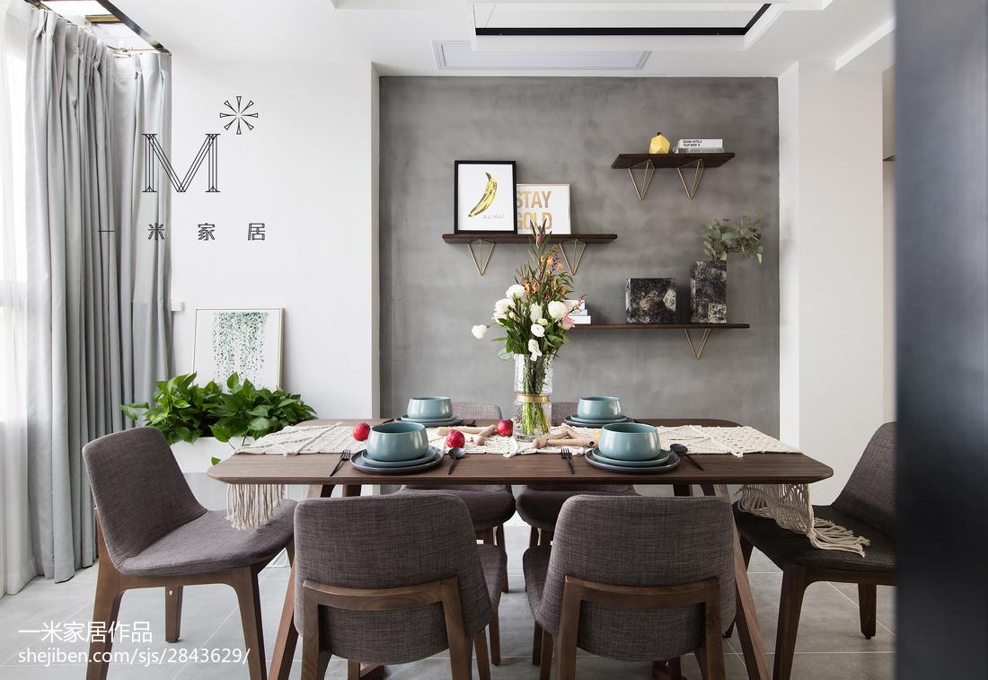 精选94平米三居餐厅现代装修效果图片大全厨房