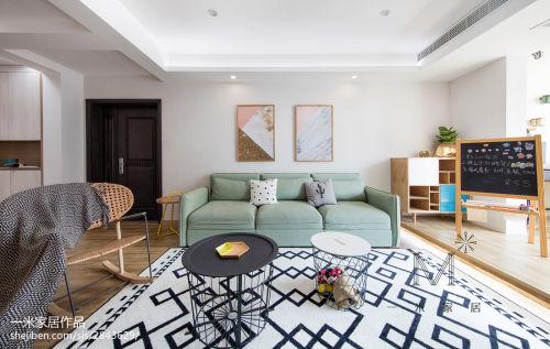 精致97平北欧三居客厅装饰图片客厅沙发