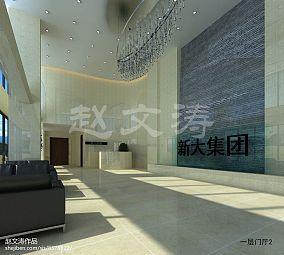现代简约黑白风格电视背景墙