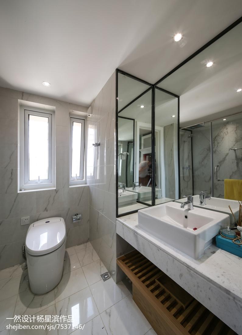 美式样板房卫浴设计实景图卫生间美式经典卫生间设计图片赏析