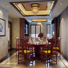 质朴994平中式别墅餐厅设计案例