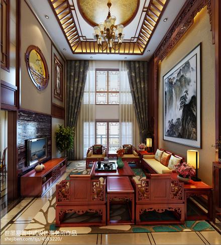 明亮848平中式别墅客厅装修图客厅