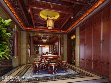 悠雅696平中式别墅餐厅实景图厨房