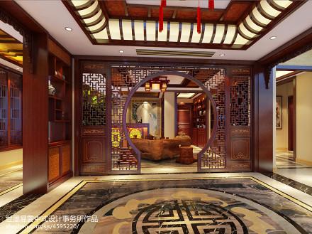 悠雅456平中式别墅休闲区装修设计图功能区