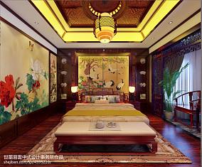 典雅596平中式别墅卧室装修设计图卧室2图中式现代设计图片赏析