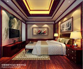 浪漫650平中式别墅卧室效果图片大全卧室1图中式现代设计图片赏析